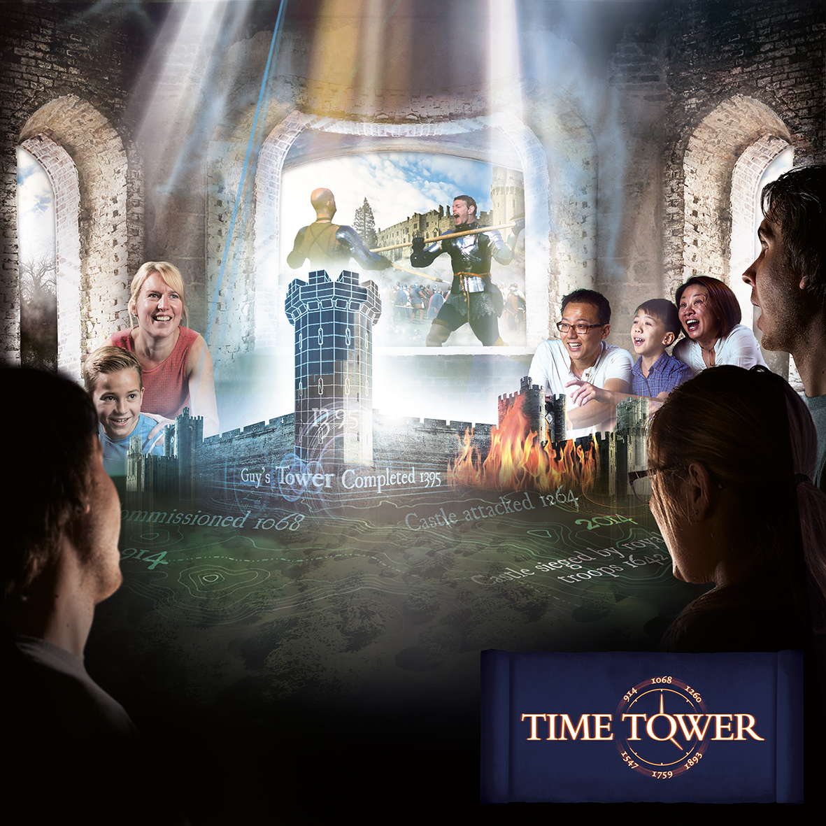 Warwick Castle Time Tower RGB